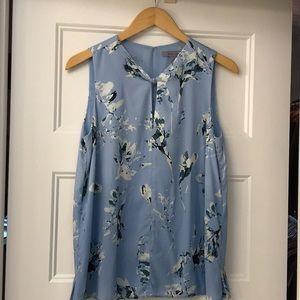 Classiques Entier blue floral silk blouse Small